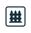 fence icon Rounded squares button vector image