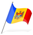 flag of Moldova vector image vector image