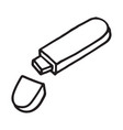 flash disk doodle icon vector image