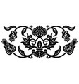 flower ethnic ornament black color vector image vector image