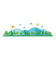 forest and landscape in flat style vector image