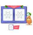 game which of the drawing one line vector image vector image