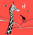 graphic beautiful portrait of a giraffe vector image vector image