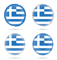 greek flag icon in colorful on white background vector image vector image