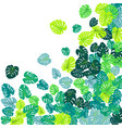 green tropical jungle leaves scatter vector image