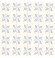 Grey geometrical flowers on white backdrop vector image vector image