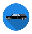 Hearse icon in flat style isolated on white vector image vector image