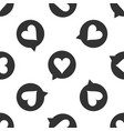 heart in speech bubble icon seamless pattern vector image vector image