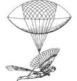 Historical flying balloon design vector image
