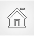 home icon sign symbol vector image vector image
