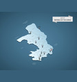 isometric 3d congo map concept vector image vector image