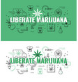 liberate marijuana text design - marijuana vector image vector image