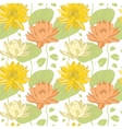 Lotus flowers in seamless pattern vector image vector image