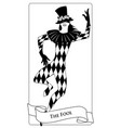 major arcana tarot cards the fool joker with top vector image vector image