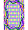 mardi gras beads vector image vector image