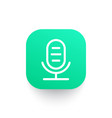 microphone line icon audio recording sign vector image