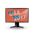 Monitor with sign USA 2017 vector image vector image