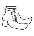 pair boot shoes of leprechaun outline vector image