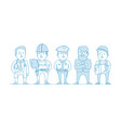 people are different professions vector image vector image