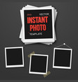photo blank vintage photo frame mockup set vector image vector image