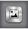 Photography icon - metal app button vector image vector image