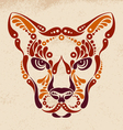 Puma tattoo vector image
