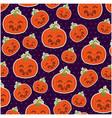 pumpkin hallooween pattern background vector image