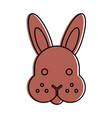 rabbit head isolated icon vector image vector image