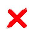 re wrong cross symbol handwritten vote ink vector image vector image