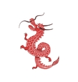 Red Dragon Japanese Culture Symbol vector image