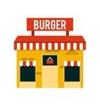restaurant outside design vector image vector image