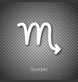 scorpio astrological symbol with shadow vector image