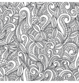 Seamless black and white hand-drawn seamless vector image vector image