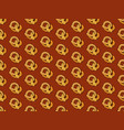 seamless pattern delicious pretzels hand-drawn vector image vector image