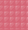 seamless pattern pie with ribbon in pink vector image
