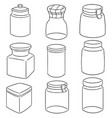 set of jar vector image