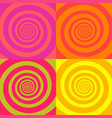 set psychedelic spirals in retro comic style vector image vector image