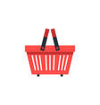shopping basket shop supermarket flat vector image