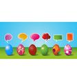 social media painted easter egg set vector image