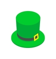 St Patrick Day hat isometric 3d icon vector image
