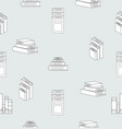 stack books flat design seamless pattern vector image vector image
