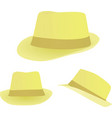 summer hat vector image vector image