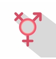 Transgender sign icon flat style vector image vector image