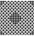 Triangle and square seamless pattern vector image