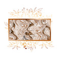 victorian golden with frame icon vector image