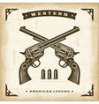 Vintage Western Revolvers vector image vector image