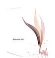 watercolor art with natural gentle leaves vector image