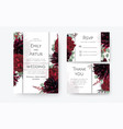 wedding invite invitation card rsvp thank you card vector image