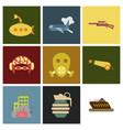 world war line icons minimal pictogram design vector image