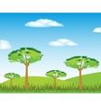 Year landscape with tree vector image vector image